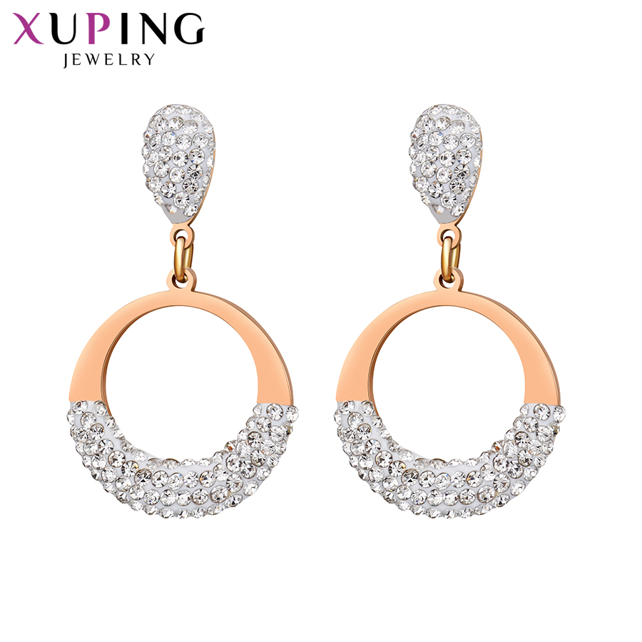 Xuping Fashion Elegant Earrings Round Shape Eardrop For Trendy Women Sweet Little Fresh Jewelry High Quality Gift M103.3-20763