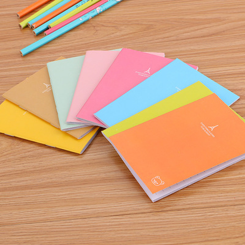 1pcs Candy Color Notepad Novelty Stationery  Notebook Student Planner  Book Organizer Cute Pocket Planner Cute School Supplies