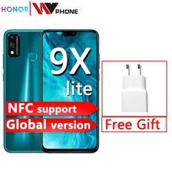 Новое поступление, Смартфон Honor 9X Lite, 4G, 128 ГБ, камера 48 МП, Kirin 710, 6,5 дюйма, телефон Android P, графический процессор Turbo 3,0, NFC