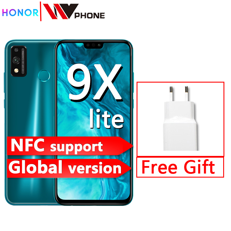 Chegada nova versão global honra 9x lite smartphone 4g 128g 48mp câmera kirin 710 6.5 turbo telefone móvel android p gpu turbo 3.0 nfc
