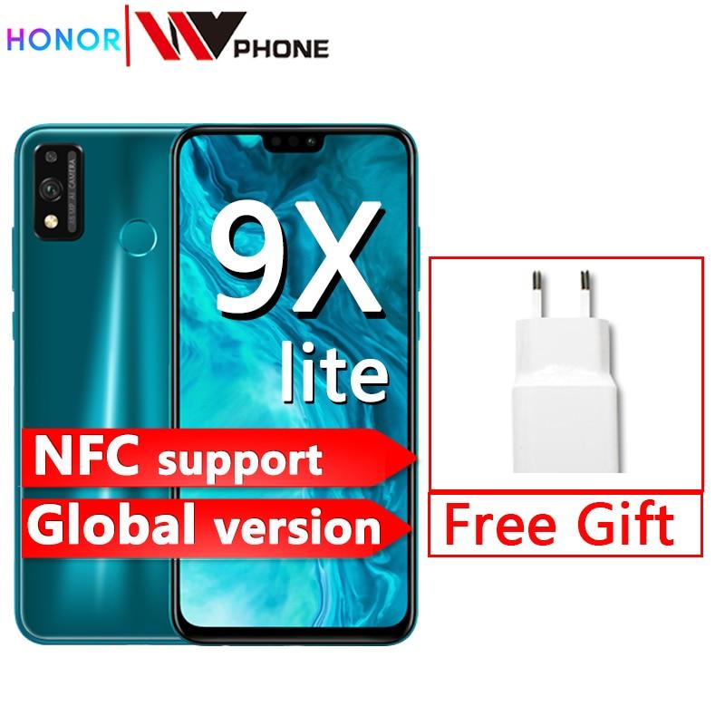 New Arrival globalna wersja Honor 9X Lite Smartphone 4G 128G 48MP kamera Kirin 710 6.5 ''telefon komórkowy Android P GPU Turbo 3.0 NFC