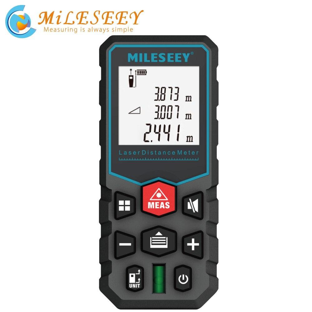 Mileseey Measuring-Tape Rangefinder Roulette Laser-Distance-Meter Metro Electronic Trena