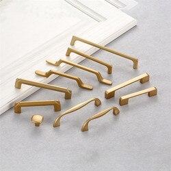 Золотая металлическая ручка KK & FING из американского твердого алюминиевого сплава для шкафа, ручки ящика, кухонный шкаф, мебель, фурнитура