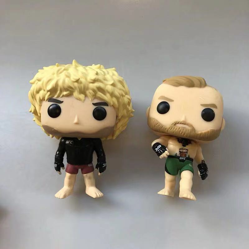 Original Funko Pop Secondhand Boxer Fighter Conor McGregor, Khabib, George Vinyl Action Figure Collectible Model Loose Toy