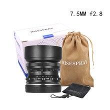 RISESPRAY F7.5mm f2.8 fisheye עדשת 180 APS C ידני קבוע עדשה עבור Canon EOS M הר E הר פוג י FX הר מכירה לוהטת J