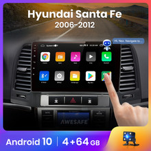 AWESAFE PX9 para Hyundai Santa Fe 2 2006-2012 auto Radio Multimedia reproductor de video GPS No 2 din Android 10,0 2GB + 32GB