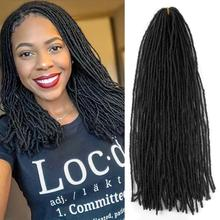 Braids Slender Straight Goddess Faux Locs Crochet Hair Synthetic Sister Locs Crochet Hair Braids Synthetic Braiding 12inch goddess faux locs curly ends short wavy crochet braids 12strand pack afro synthetic ombre crochet braiding hair extension