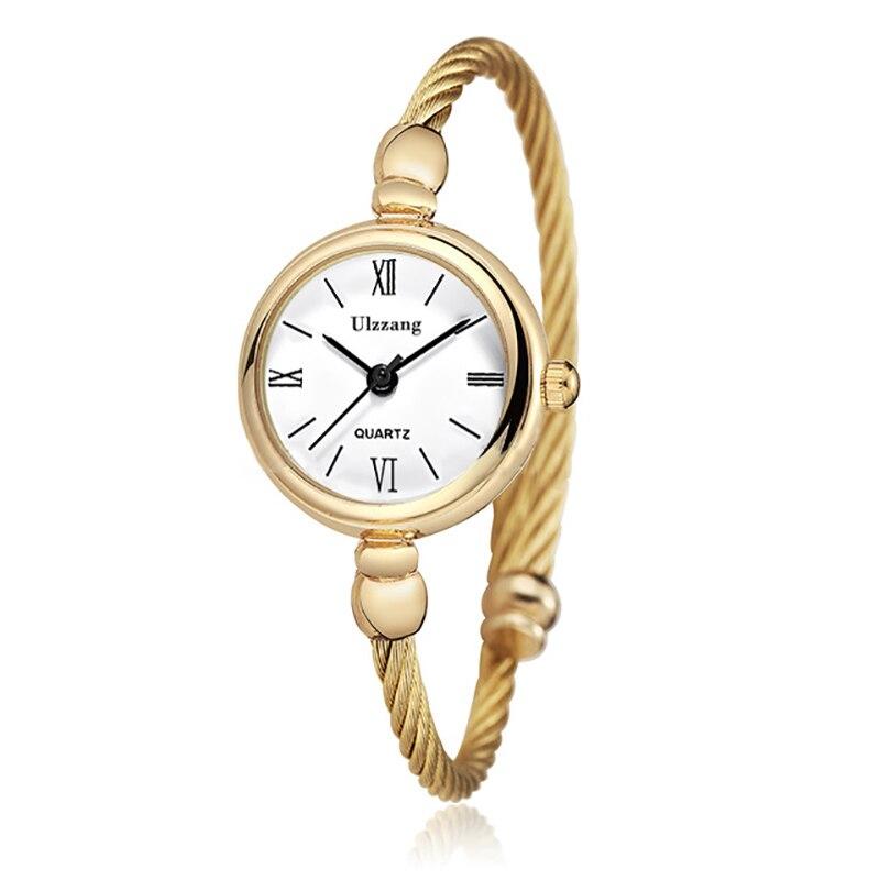 שעון צמיד זהב קוורץ Ulzzang 6