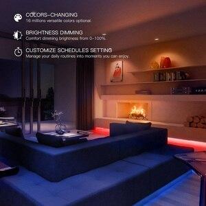 Image 5 - Yeelight חכם אור רצועת בתוספת 1M להארכה LED RGB צבע רצועת אורות עבודה Alexa גוגל עוזר חכם בית אוטומציה