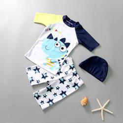 Детский купальный костюм для мальчиков, Раздельный купальник, плавки для плавания, большой детский купальный костюм с рисунком Вэнь Куан