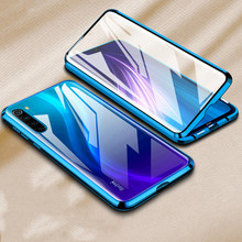 360 Tempered glass phone Case on for Xiaomi Redmi K30 Redmi Note 8T 7 8 Pro 8A Note8 Note8t magnetic adsorption protection coque(China)