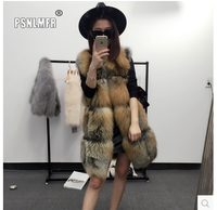 New Coming Luxury Thicken Real Fox Fur Vest Warm Simple Stlylish Fabric Vintage Winter Clothes Women New Fashion Genuine Jacket