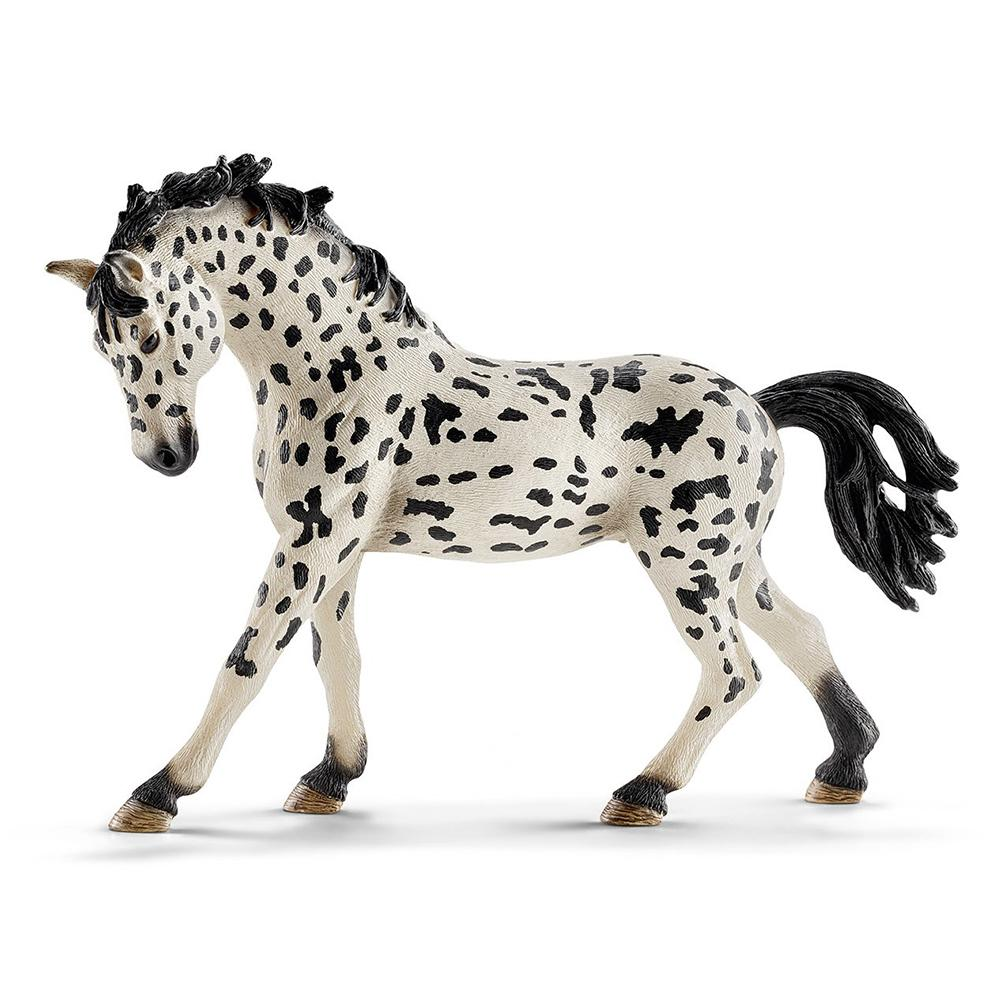 PVC Simulation Paard Animal Model Horses 5inch Denmark Knabstrupper Mare Toy Figure Farm Animals Toys Fairy Garden Decoration
