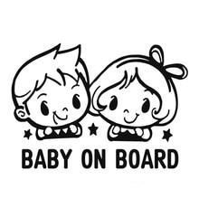 Baby Meisje Op Board 3D Auto Stickers Motorfiets Decals Vinyl Raamstickers Auto Styling # B1069