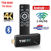 T98 Mini Fire TV Stick TV BOX Android 10 2GB 16GB 2.4/5G WIFI RK3318 lettore multimediale DLNA 1080p Smart TV ricevitori Dongle PK X96S