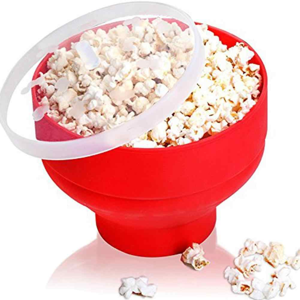 microwave popcorn maker collapsible silicone popcorn popper bowl pop corn bowl with lid for home dly hot air popcorn popper bowl