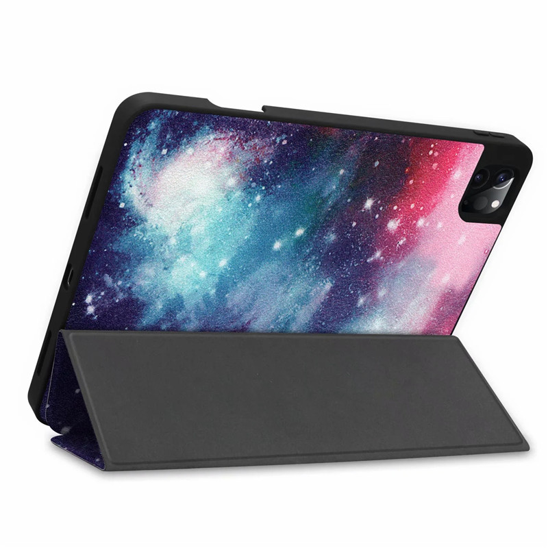 For Stand PU Case For Pro Back Case Smart iPad 9 Cover Leather iPad 2020 12 Painted TPU