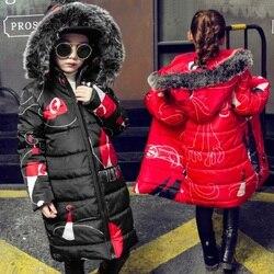 Nowe ubrania dla dziewczynek zagęścić płaszcze dla dzieci kurtki zimowe dla dziewczynek dla dzieci ubrania Faux kurtka z futrzanym kapturem ubranie dziecięce 4 12yrs|Kurtki i płaszcze|   -