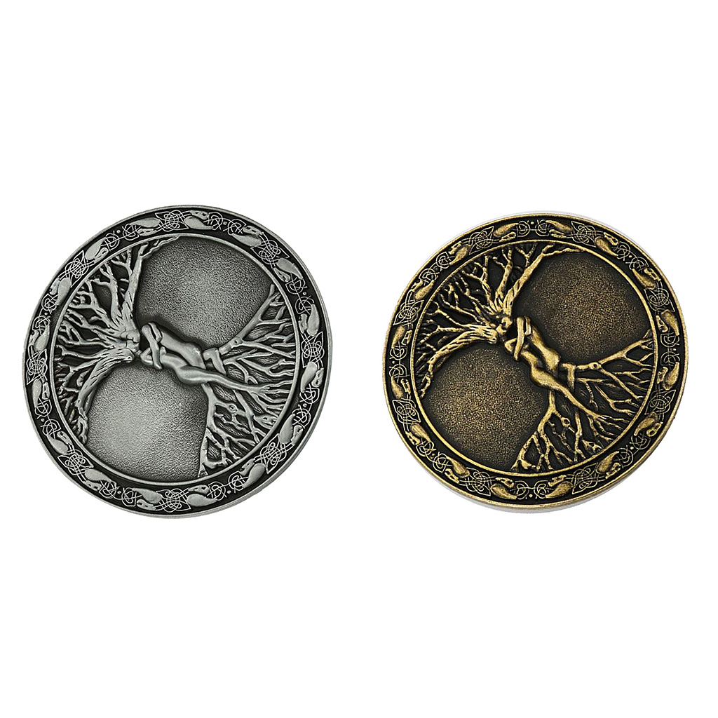 2x Tree Of Life Belt Buckle For Men Western Belt Buckles Round Cowboy Buckle Circle Shape Buckle