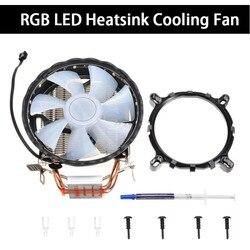 Dla Intel LGA 1150 1151 1155 1156 775 dla AMD AM3 AM2 RGB LED wentylator do procesora 4 Heatpipe CPU chłodnica radiator z wentylatorem