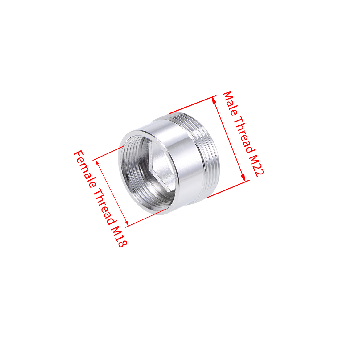 Uxcell Faucet Adapter M22 Male Thread To M18 Female Thread Copper Aerator For Garden Hose