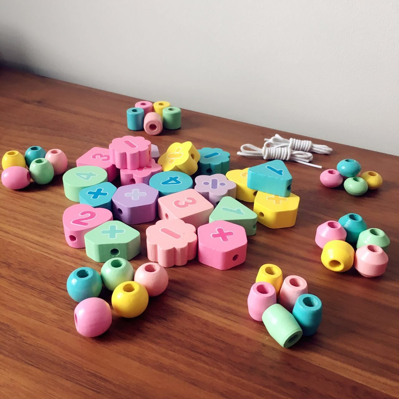 Macarons Chuan Zhu Toy Infant Threading Building Blocks Children Bead Baby Educational Toy 1-2 A Year Of Age 3-Year-Old