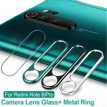 Защитное стекло для камеры Xiaomi Redmi Note 8 Pro 8T 7 K20 Pro, Защитное стекло для объектива, металлический защитный кольцевой чехол
