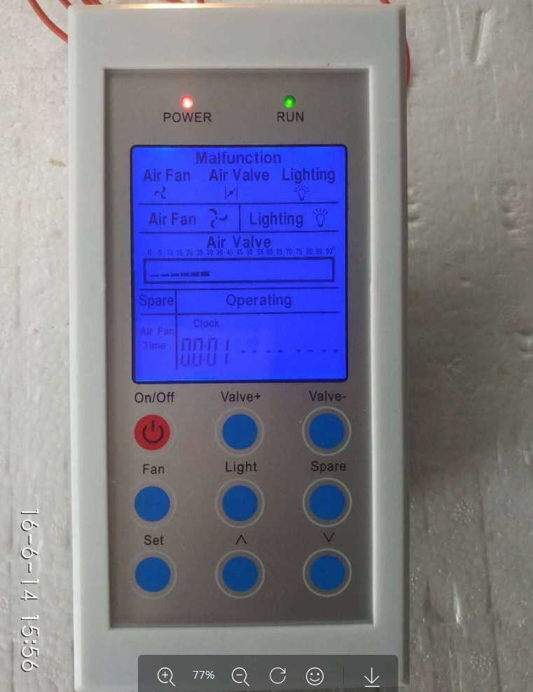 Laboratory Equipment Accessories Fume Hood Special Control Panel Fume Hood Controller LCD Controller