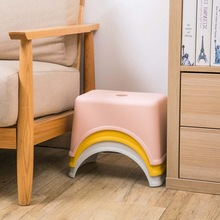 Thicken Plastic Square Stool Children's Low Stool Living Room Small Bench home Adult Change Shoes Stool Kids Gift