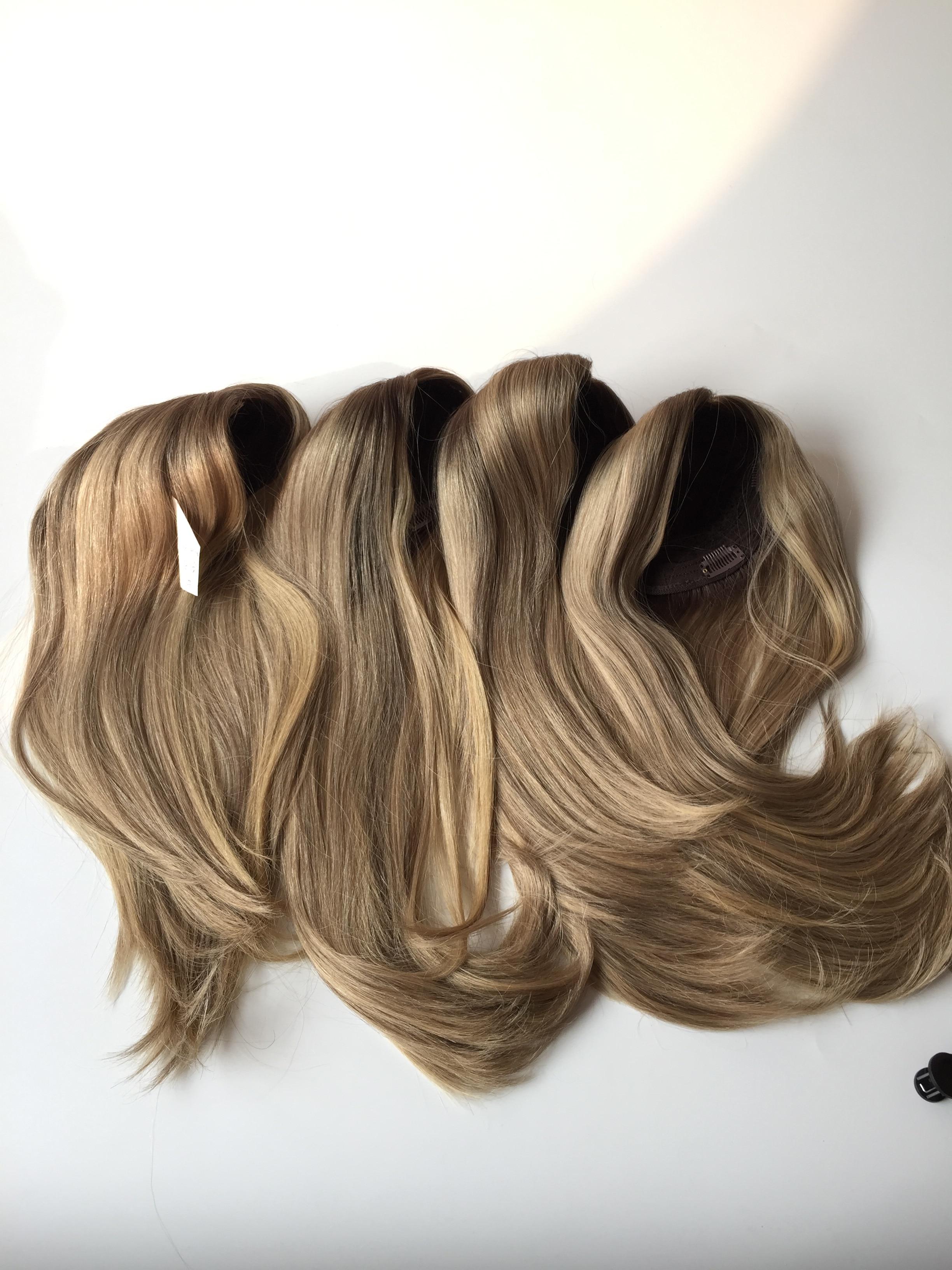 peças de cabelo feminino melhor venda kippah queda whopper em estoque