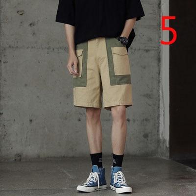 Shorts Men's Slim Five-leg Pants Korean Version Of The Straight Trend White Breeches Men's Pants