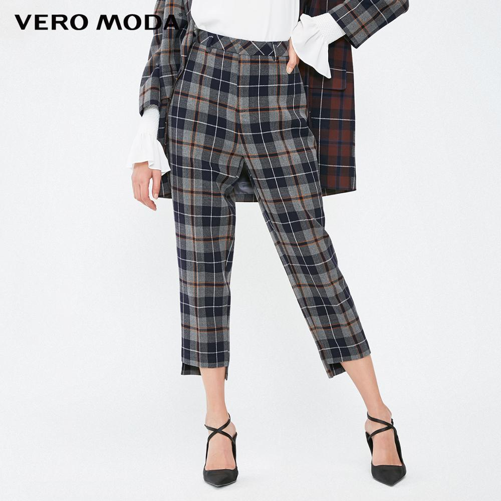 Vero Moda Women's OL Style Plaid Capri Suit Pants | 31916J514