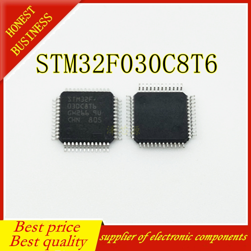 50PCS STM32F030C8T6 LQFP-48 Best Quality