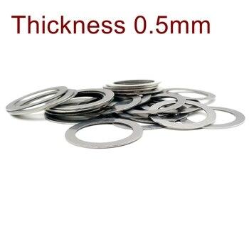 Grubość 0.5mm podkładka płaska ze stali nierdzewnej Ultra cienka uszczelka precyzyjna regulacja uszczelki M3-M60 cienka podkładka SUS304