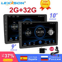 2G + 32G 2din Android 8,1 RDS Radio del coche para 9/10 pulgadas universal intercambiable reproductor de dvd del coche GPS navi 1080P OBD FM accesorio del coche