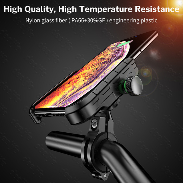 Deelife Motorcycle Phone Holder for Moto Motorbike Mirror Mobile Stand Support USB Charger Wireless Charging Cellphone Mount 5