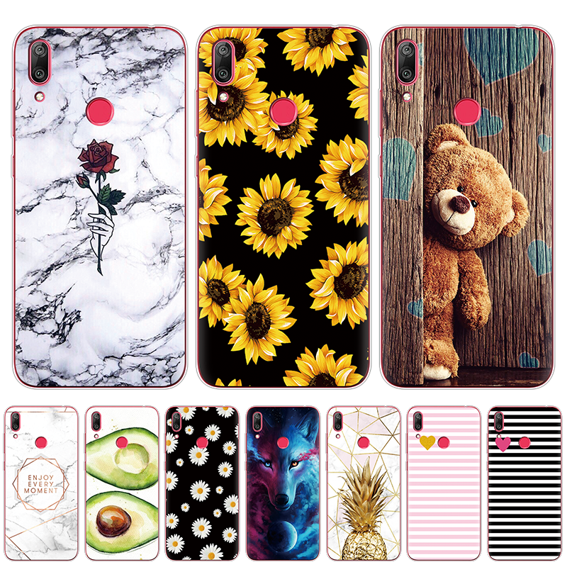 Case For <font><b>Huawei</b></font> Y7 <font><b>2019</b></font> <font><b>Huawei</b></font> Y7 Pro <font><b>2019</b></font> Silicon TPU Cover Soft Phone Case on Y7 <font><b>2019</b></font> <font><b>Y</b></font> <font><b>7</b></font> Y7Prime Y7 Prime <font><b>2019</b></font> Global Version image