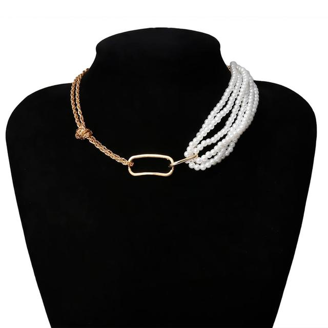 Very Unique pearl and chain wrap necklace 6