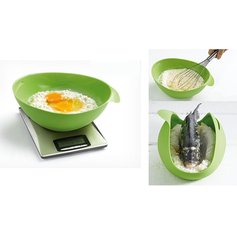 1PC Home Kitchen Microwave Oven Steamer Soft-paste Silicone Folding Bowl Baking Fish Steam Roaster Bread Food Cook Tool