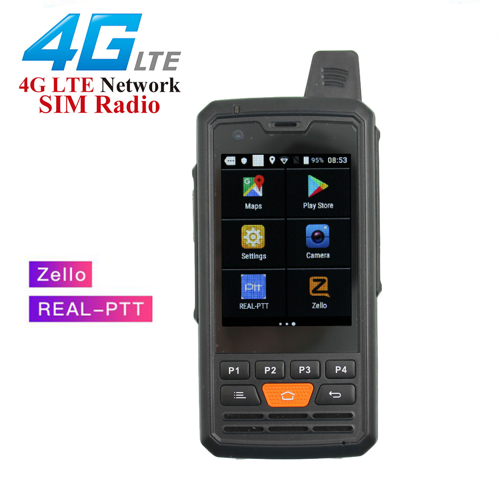ANYSECU Network-Radio Walkie-Talkie Real-Ptt Android F50 Unlock P3 with Zello 4G WCDMA/GSM