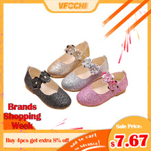 VFOCHI New Girls Leather Shoes for Kids Sequin Girls Princess Shoes Children Party Dancing Shoes Teenager Girls Dress Shoes 2018 toddler girls princess crystal rhinestone sandals little kid glitter sequin pumps big children pageant dancing dress shoes