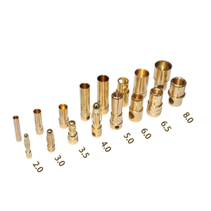 Image 1 - 100 pcs(50 pairs) Gold Bullet Banana Connector Plug 2.0 3.5 4.0 5.0 6.0 mm For Quadcopter Motor ESC Lipo Battery Connecting Part