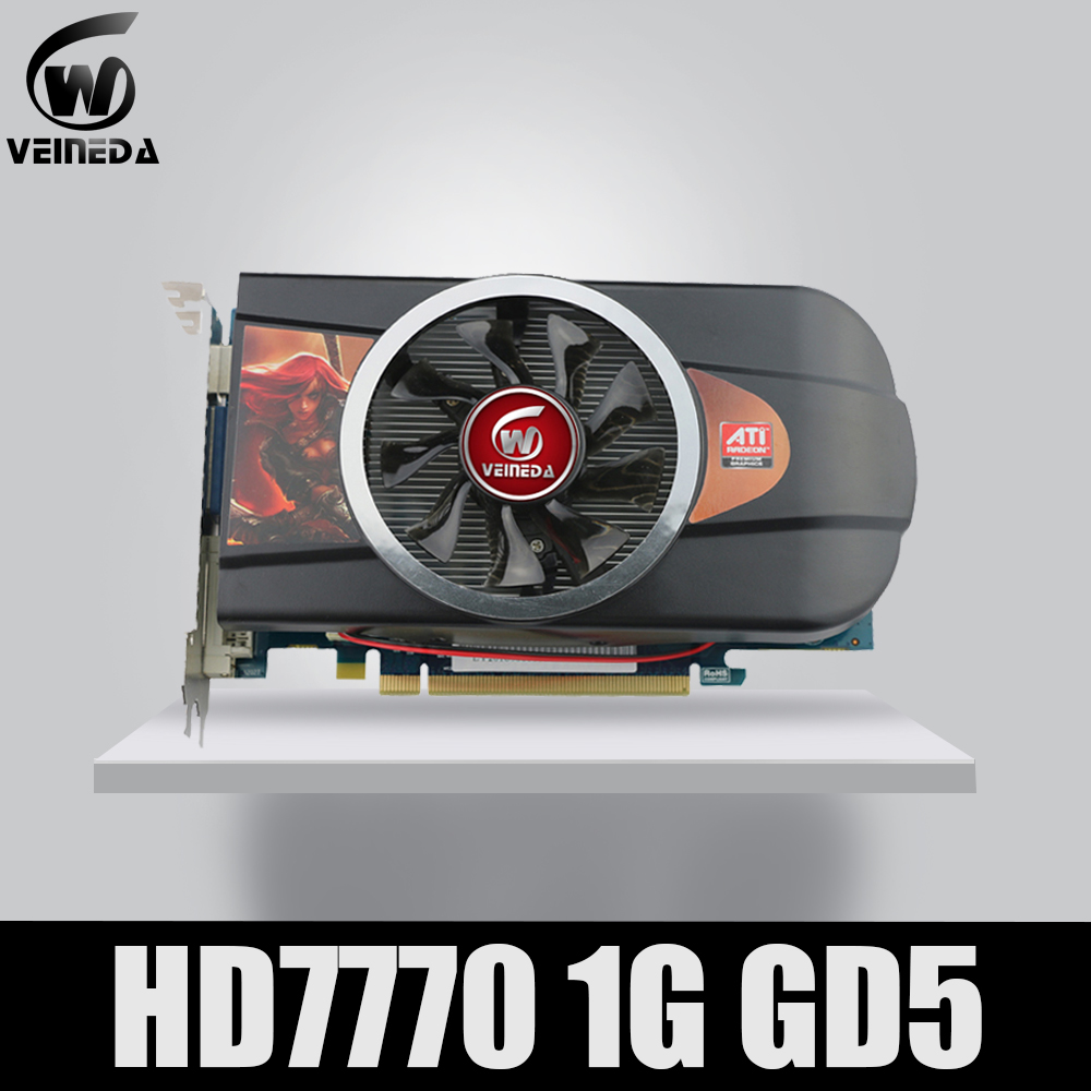 VEINEDA Graphics Cards  Video Card HD7770 1GB 128Bit GDDR5 For ATI Radeon Games