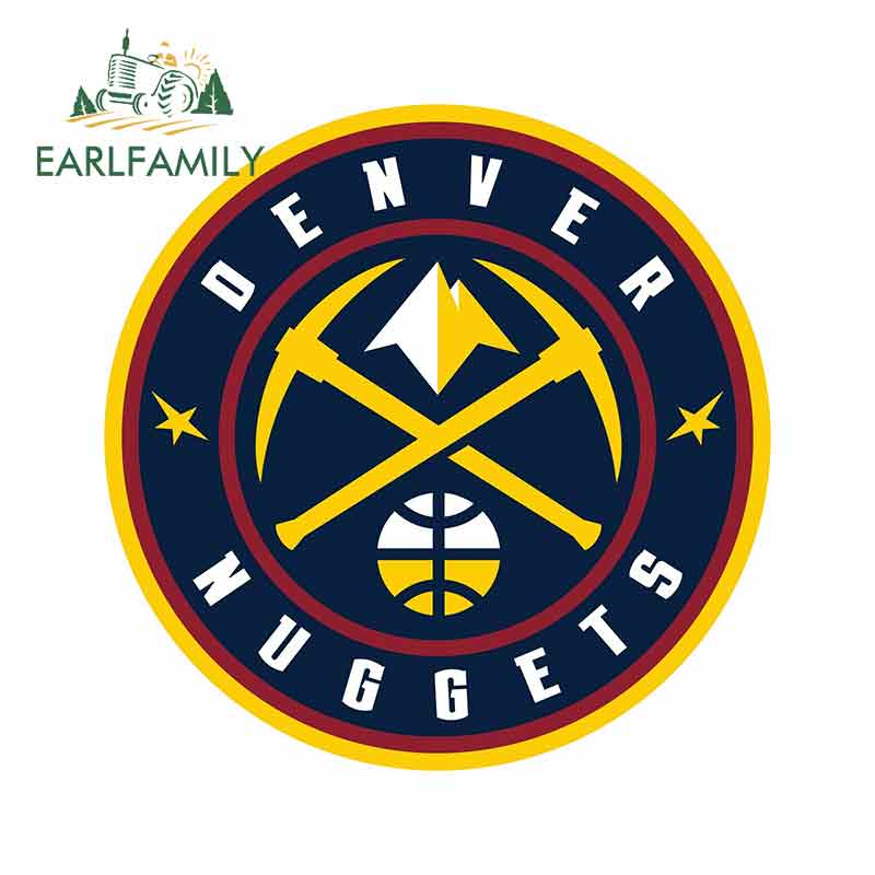 EARLFAMILY 13cm X 13cm Car Styling For Denver Nuggets Color Die Cut Decal Waterproof Car Stickers