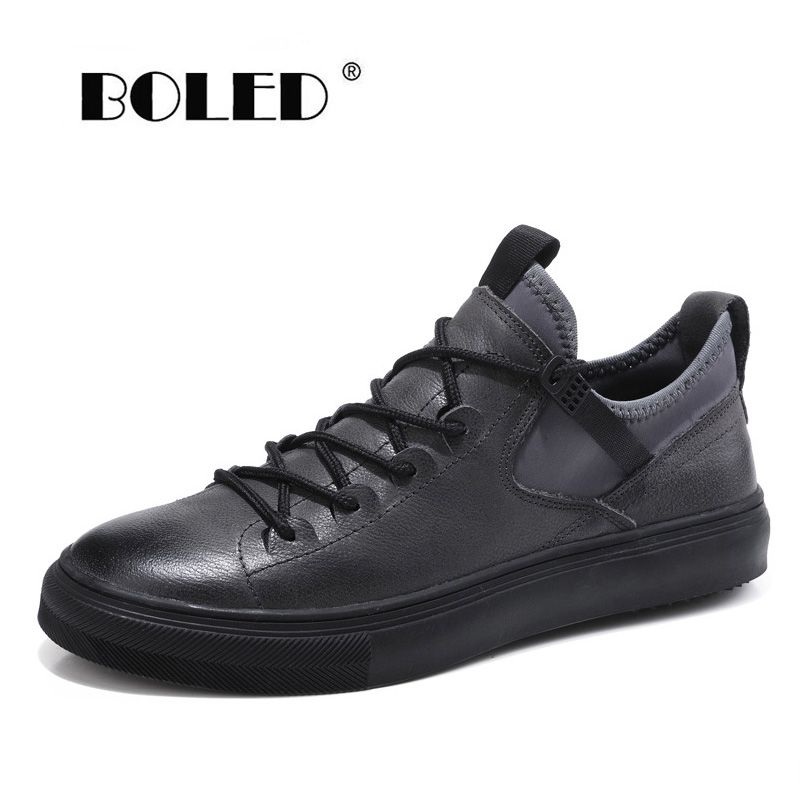 New Fashion Men Shoes Genuine Leather Casual Classic Outdoor Sneakers Flats Dropshipping