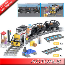 City Train Flexibele Tracks Trein Track Rail Rechte Gebogen Rails Bouwstenen Compatibel Diy Technic Moc Bricks Speelgoed(China)