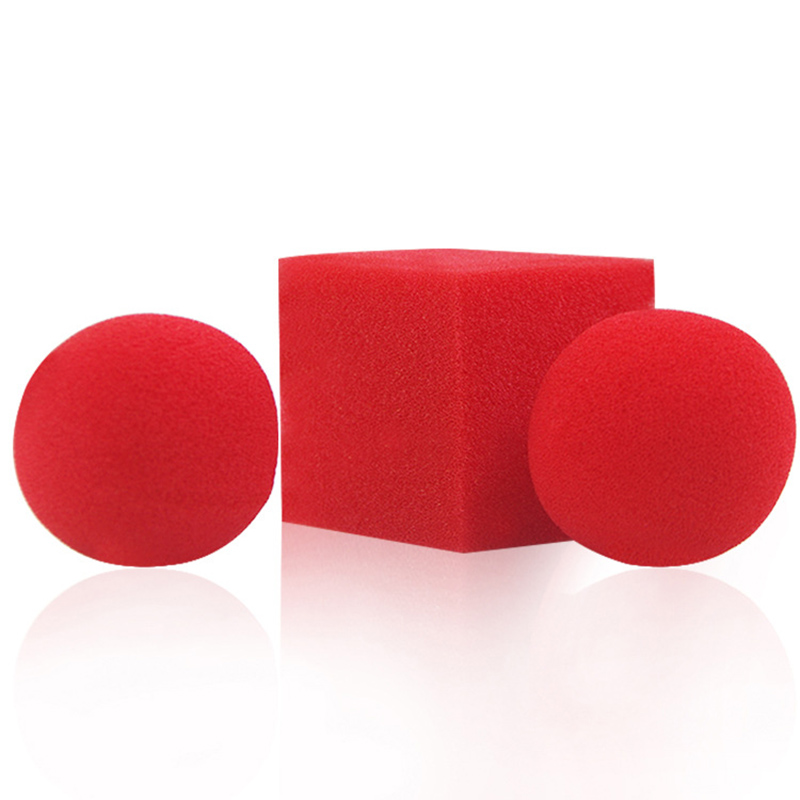 Professional Beginner Street Stage Magic Kids Toys Party Gifts Funny Red Sponge Balls Finger Magic Tricks Props Classic Toys