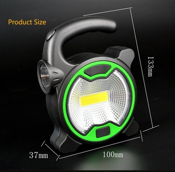 1PCs Portable COB Work Lamp LED Lantern Waterproof Emergency Spotlight Rechargeable Floodlight for Outdoor Hiking Camping Light 3