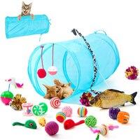 Hipidog игрушка для кошек, мышь, рыбка, мяч 21 шт., игрушки для домашних животных, игрушки для кошек, Интерактивная палочка для кошек, набор игруше...