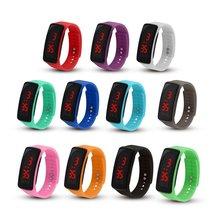 Новый силиконовый ремешок женщины мужчины светодиодный экран цифровой спортивные часы мода открытый наручные часы для детей студентов подарки часы